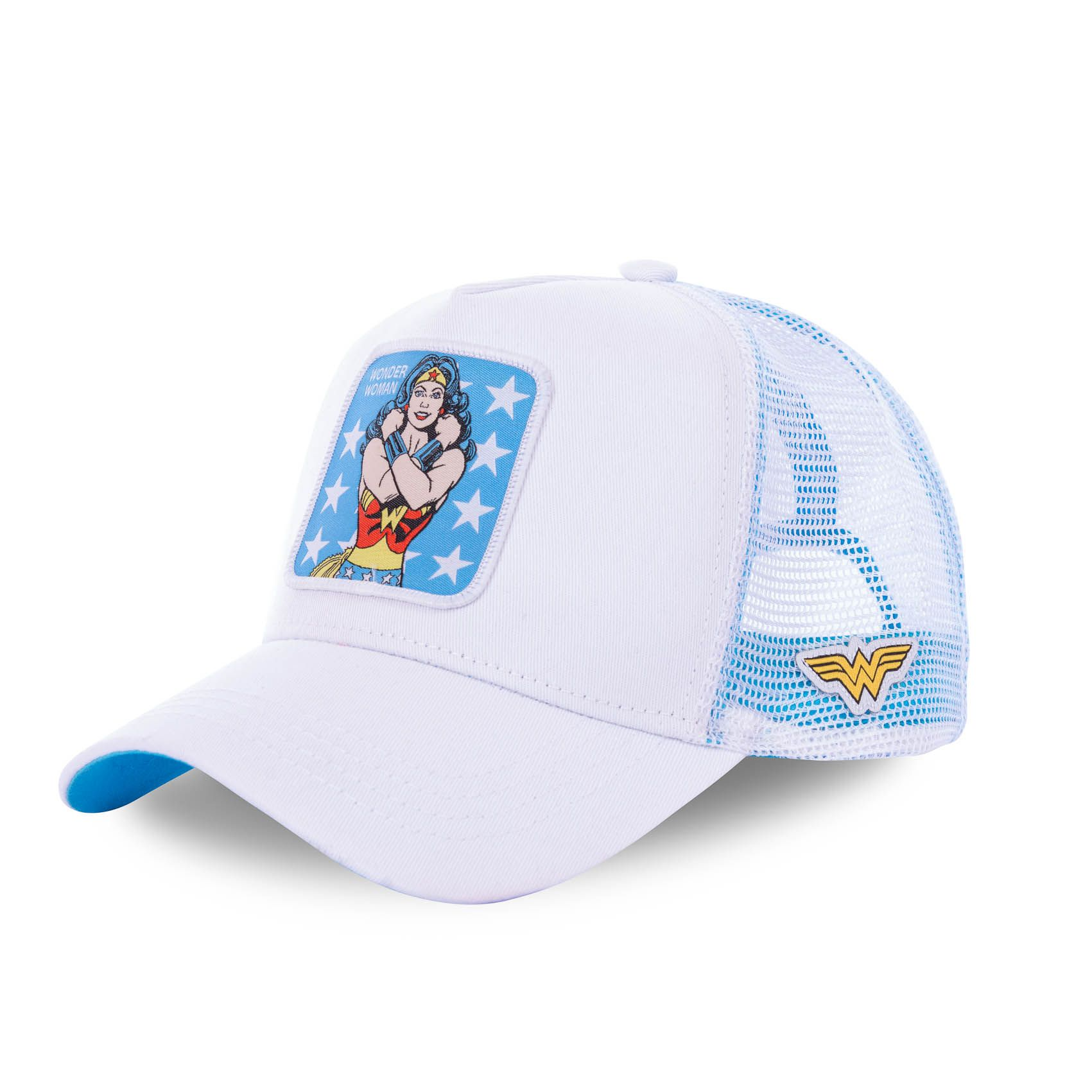 Casquette capslab dc comics wonder woman blanc (photo)