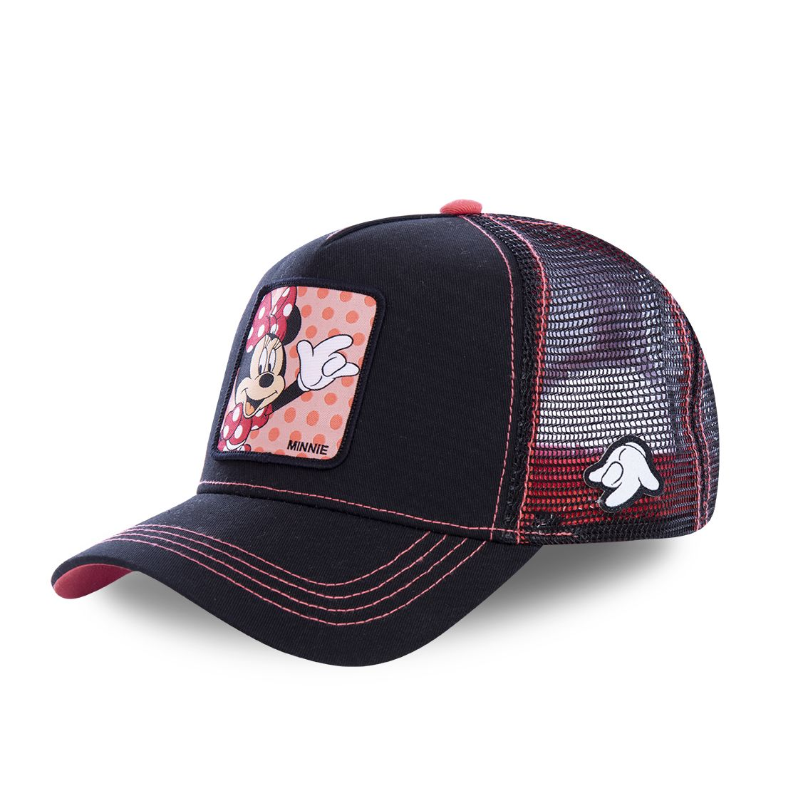 Casquette capslab disney minnie noir et rose (photo)
