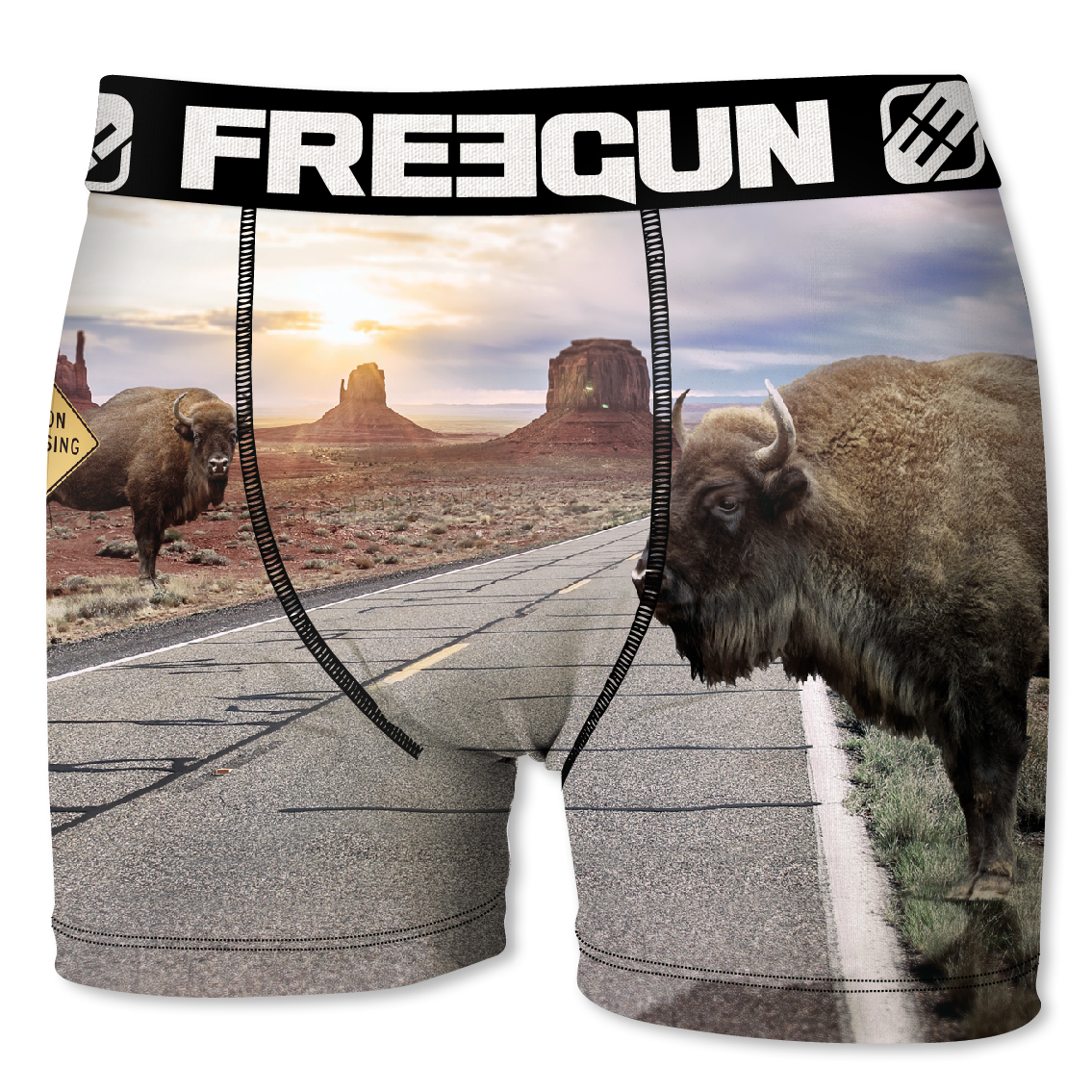Boxer enfant freegun bison gris (photo)