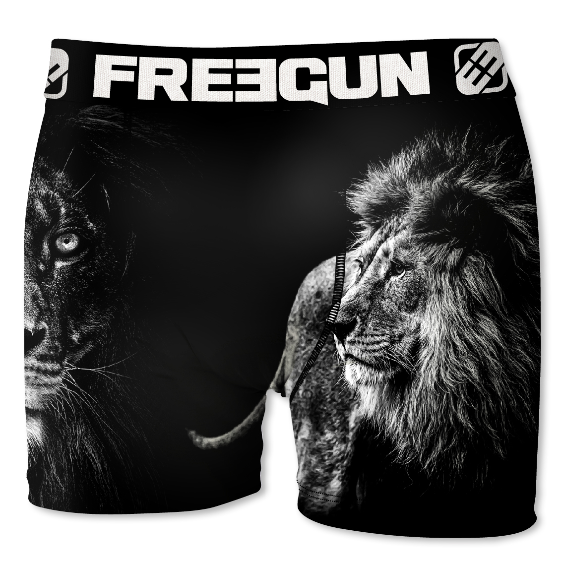 Boxer enfant freegun lion noir (photo)