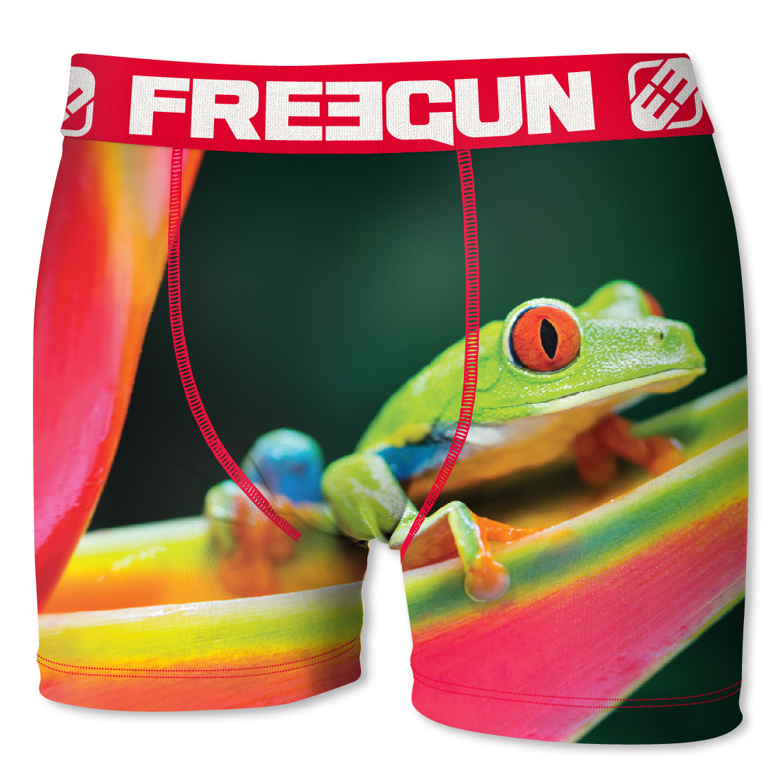 Boxer enfant freegun grenouille rouge (photo)