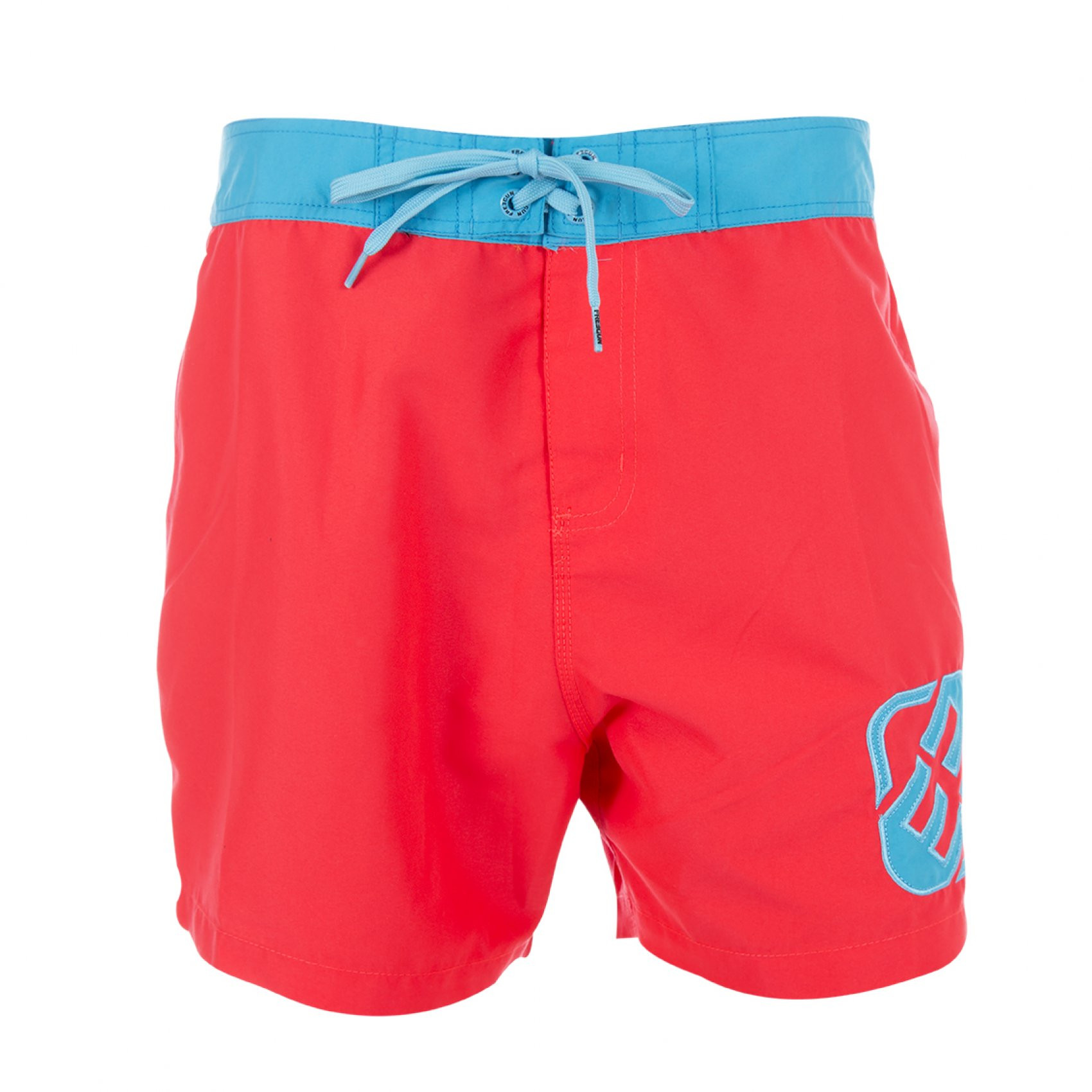 Boardshort court freegun rouge homme (photo)