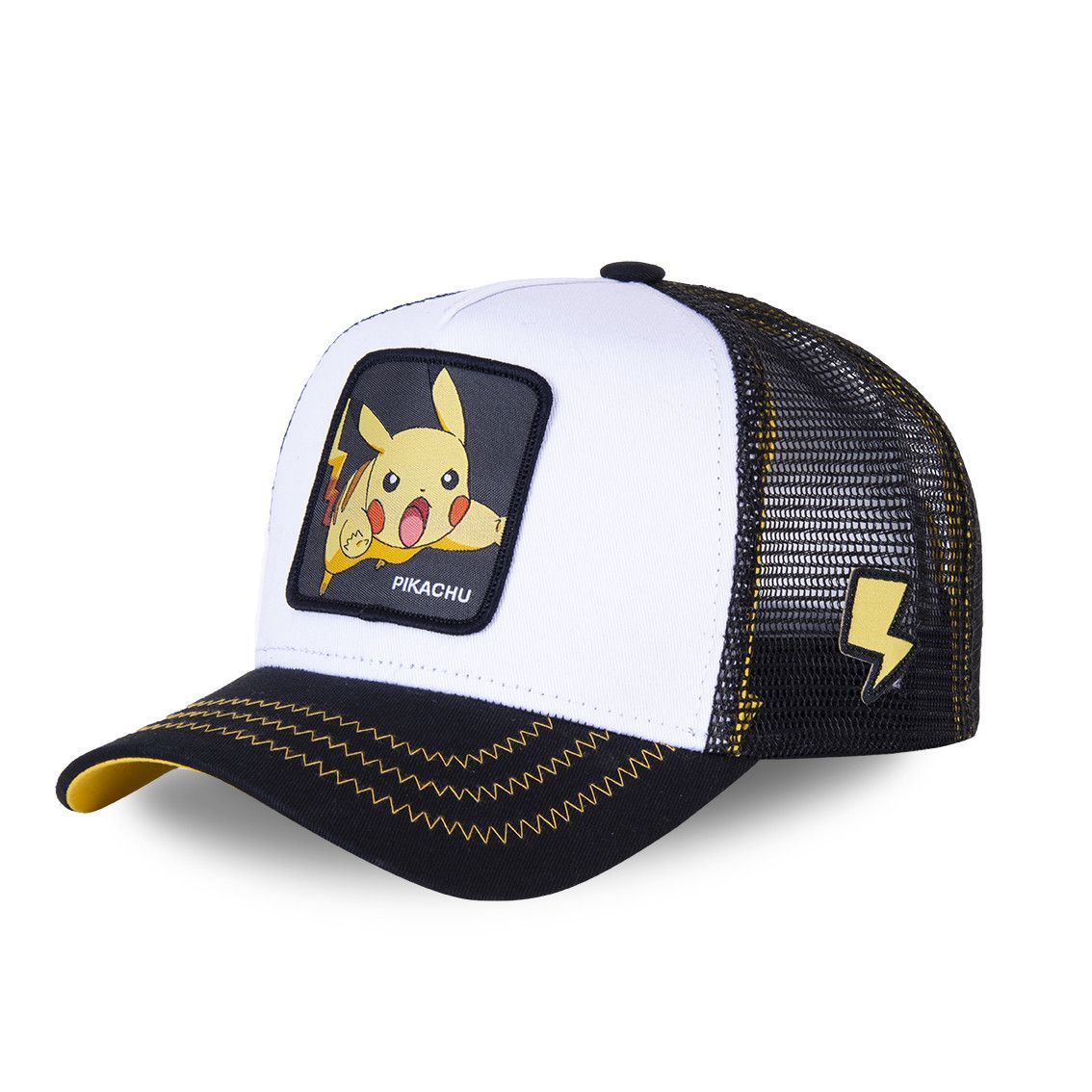 Casquette capslab trucker pokemon pikachu blanc