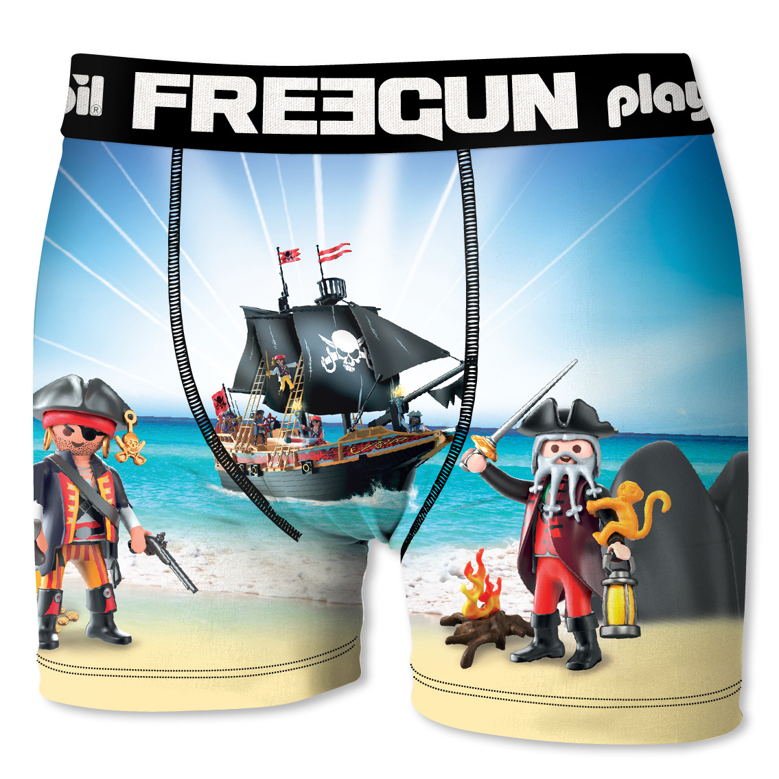 Boxer bébé garçon pirates playmobil freegun (photo)