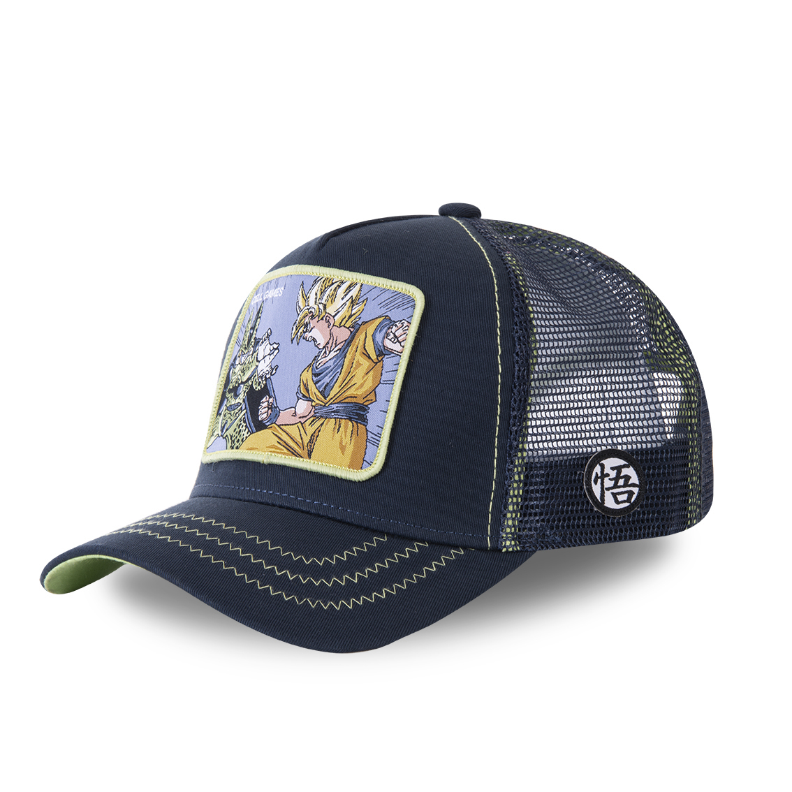 Casquette capslab dragon ball z cell games bleu marine (photo)