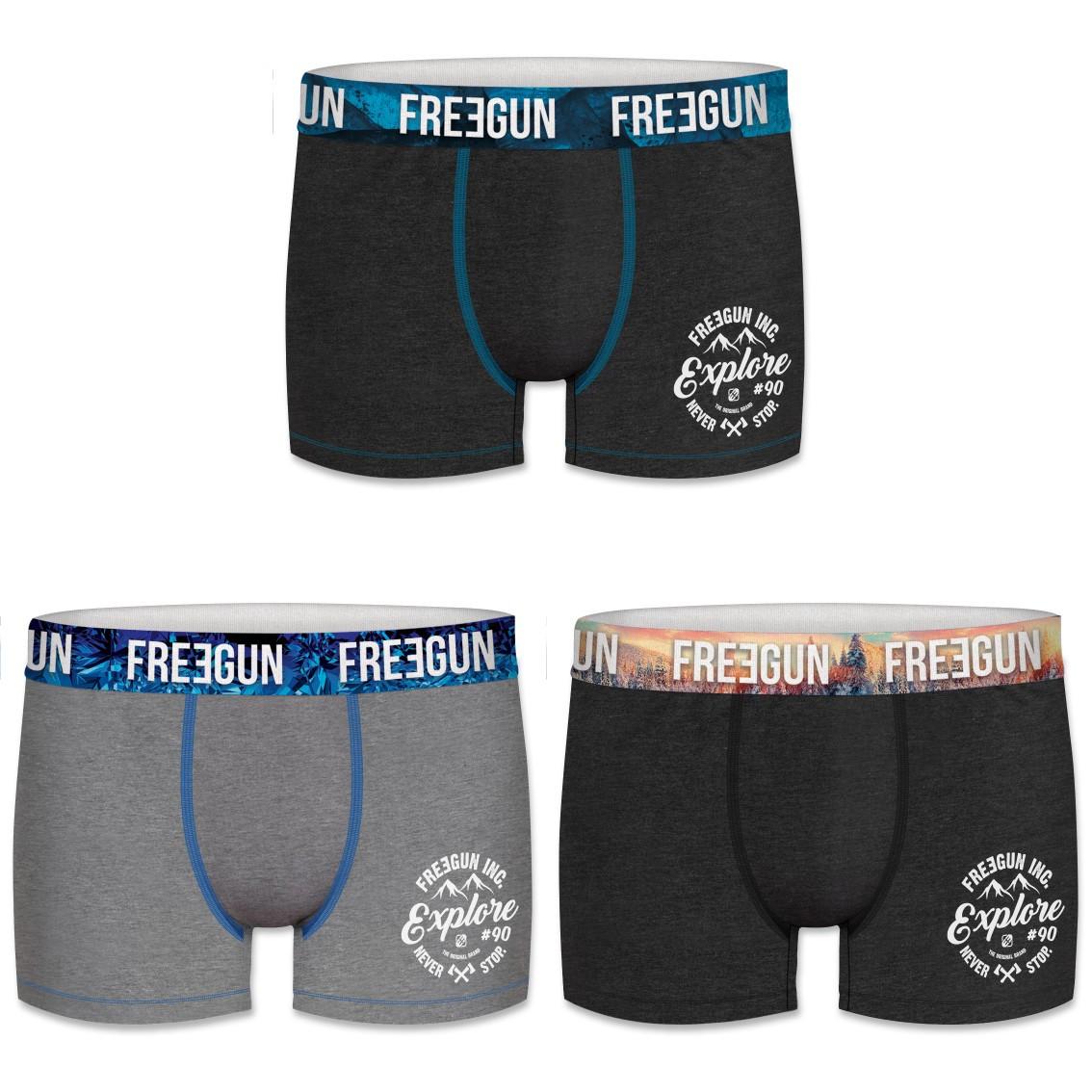 Lot de 3 boxers coton garcon wint explore multicolore (photo)