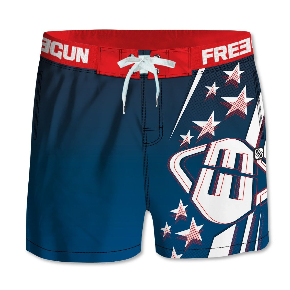 Boardshort court homme freegun bleu (photo)
