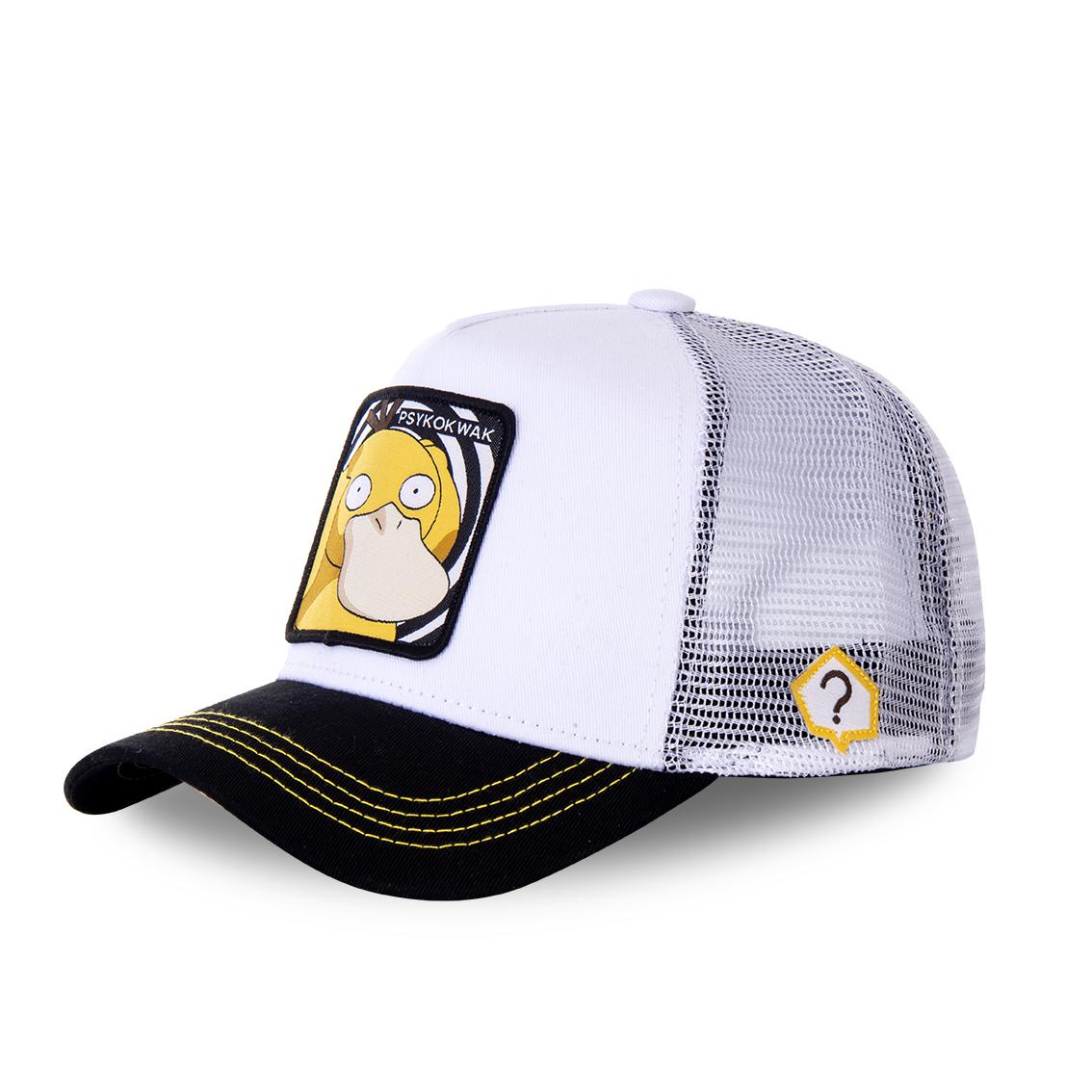 Casquette capslab trucker pokemon psykokwak blanc