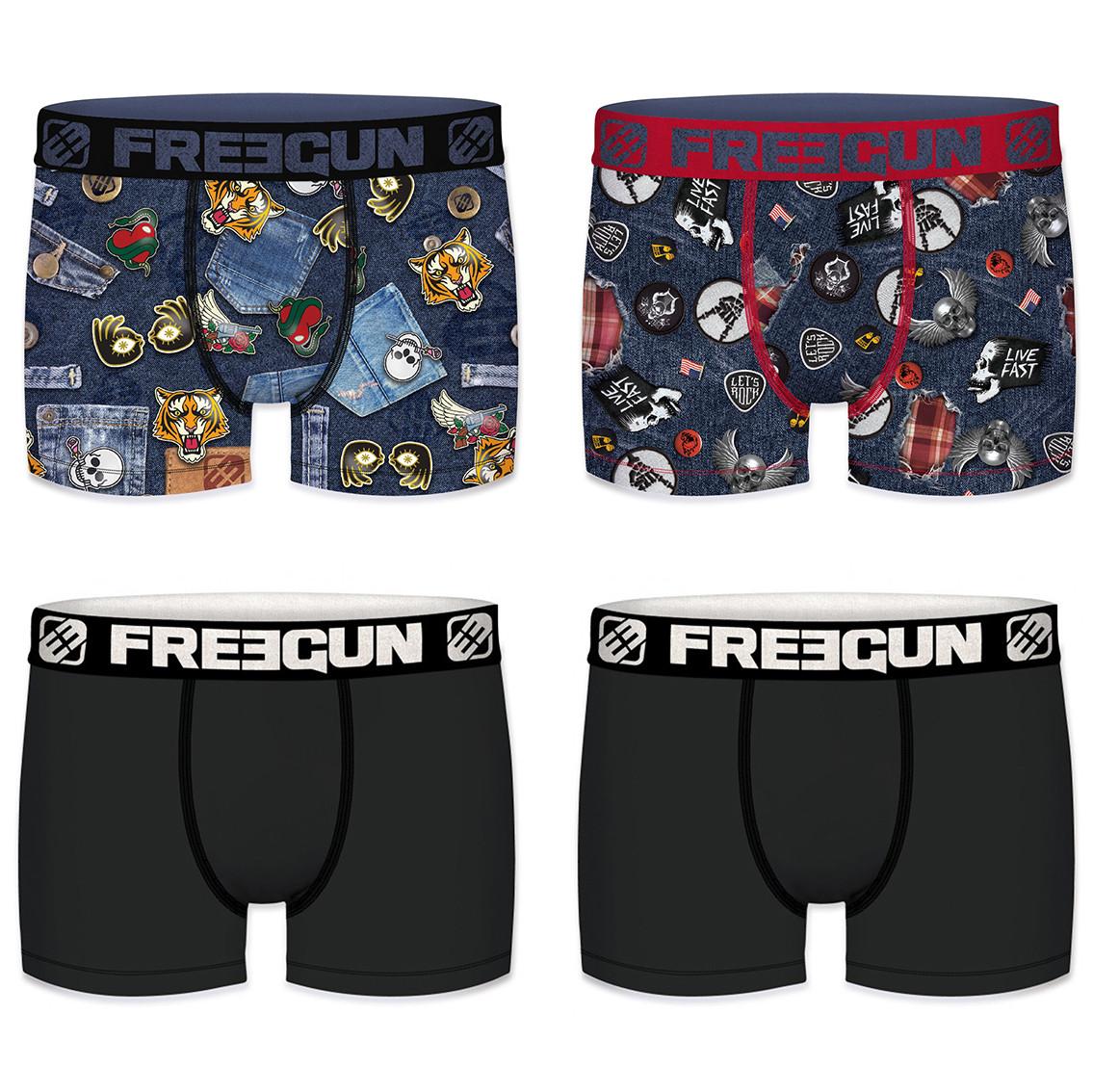 Boxer homme packx4 freegun amz f1 (photo)