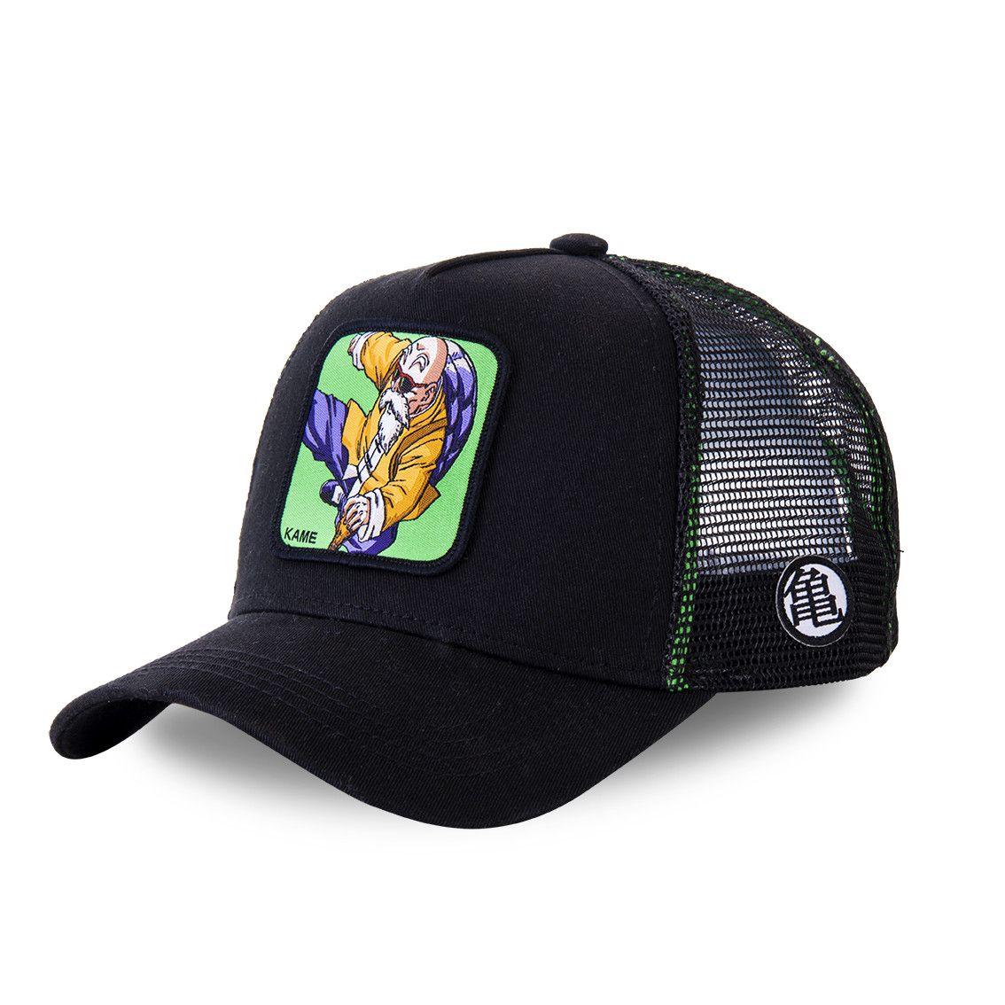 Casquette trucker capslab dragon ball z noir et vert