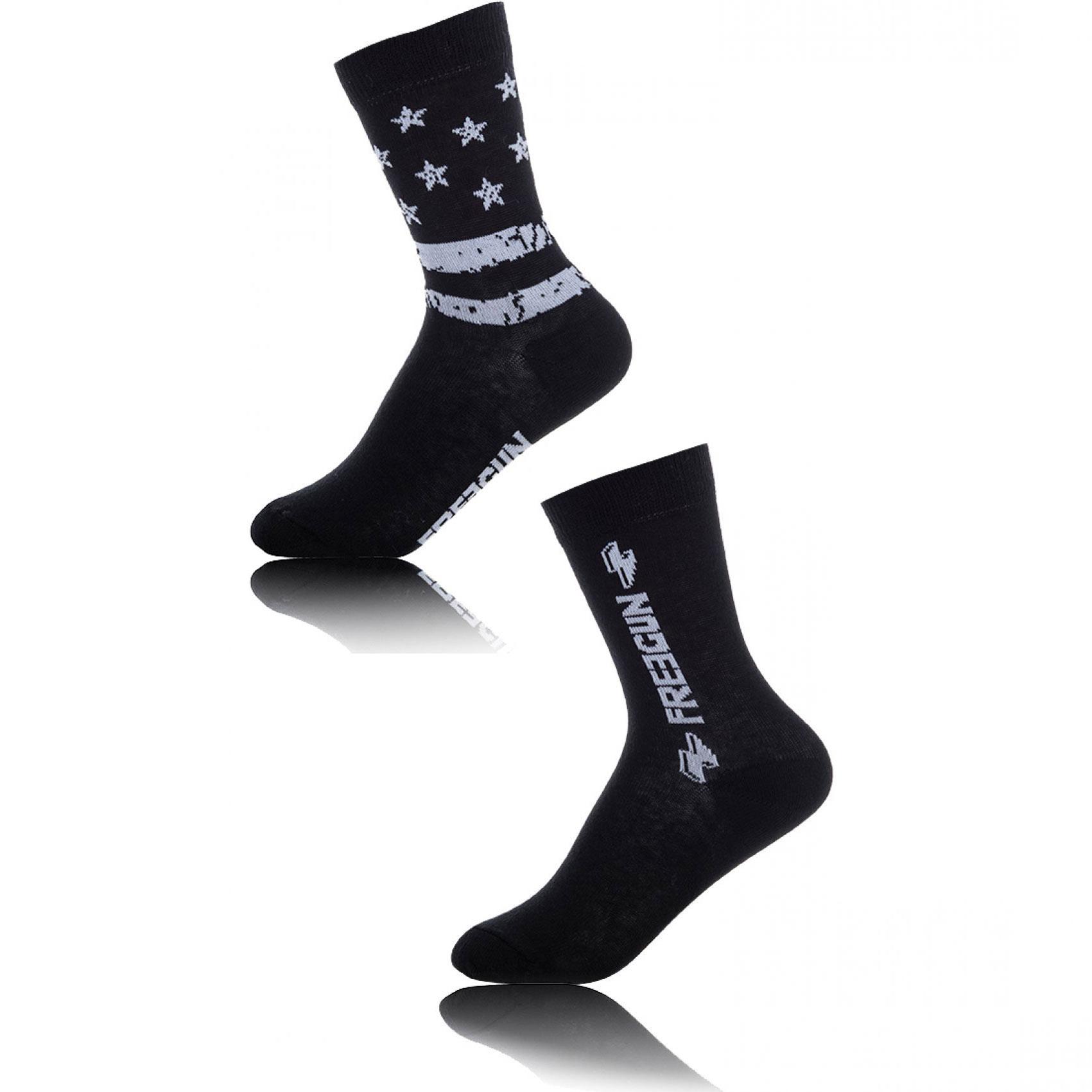 Lot de 2 paires de chaussettes garçon freegun stars (photo)