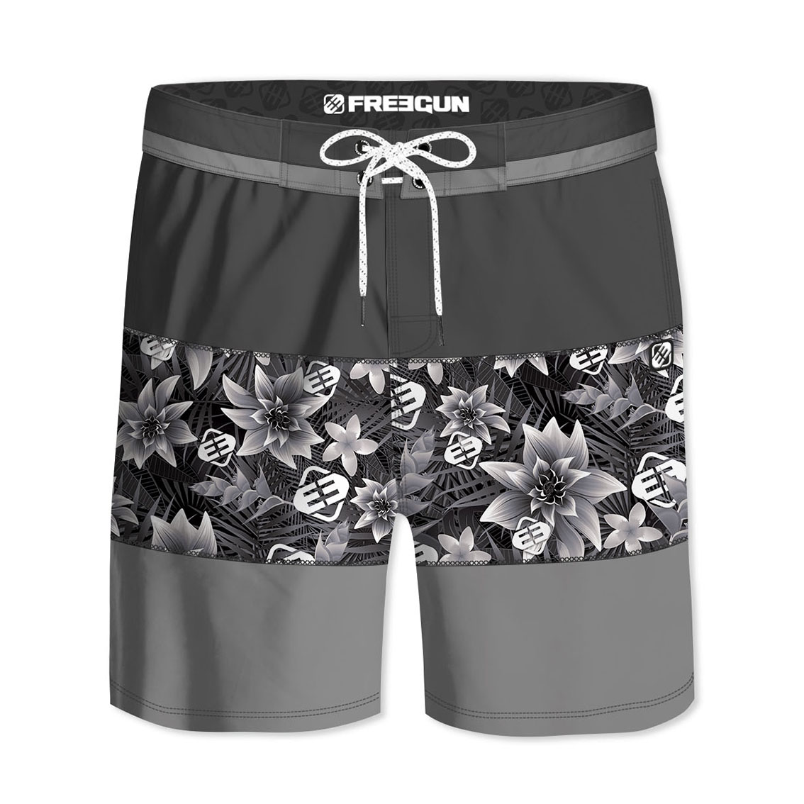 Boardshort court homme freegun ibis gris (photo)