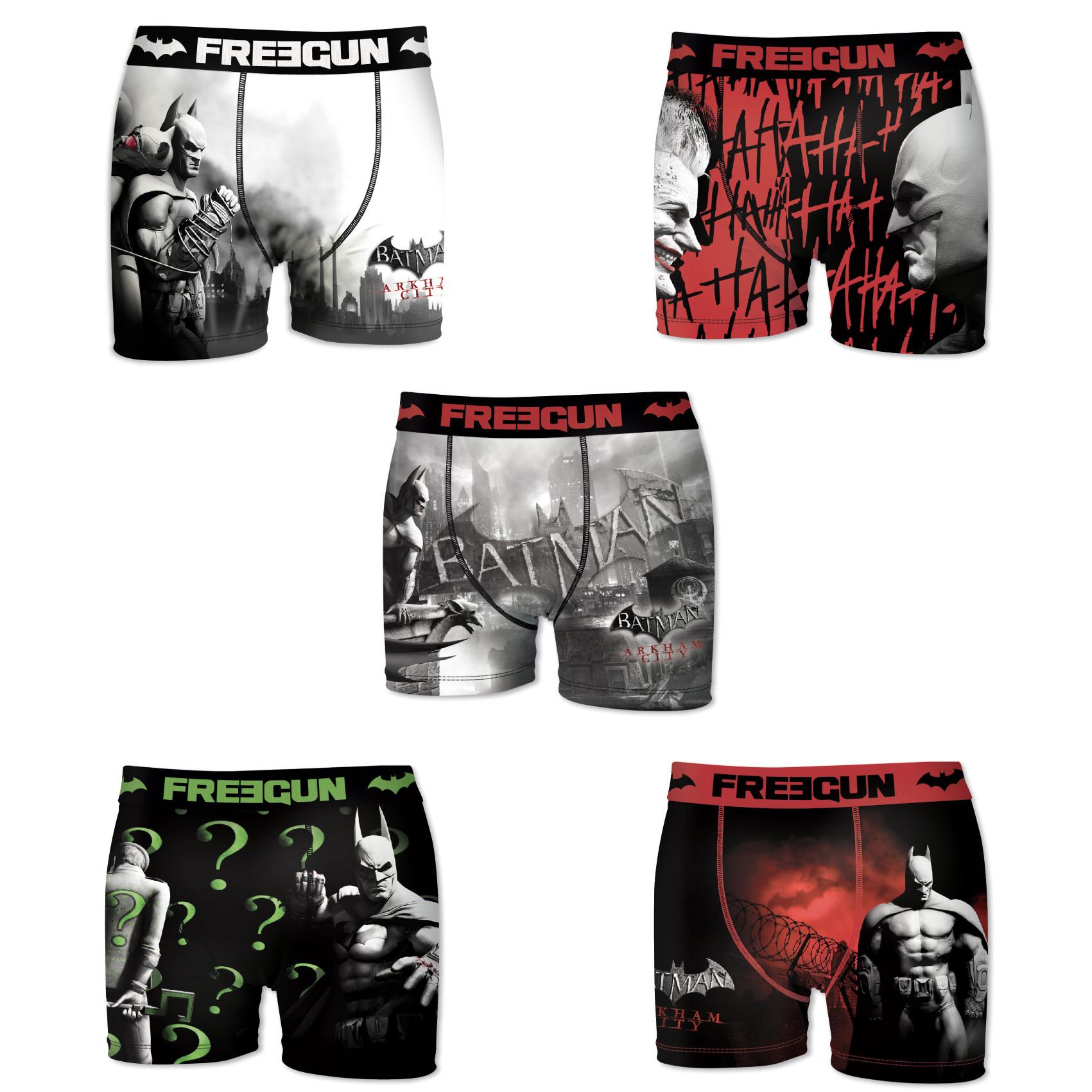 Boxers homme microfibre packx5 freegun dc comics batman e1 (photo)