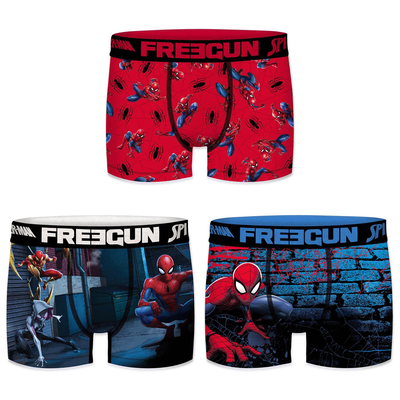 Boxers garçon microfibre packx3 freegun spider man e1 (photo)