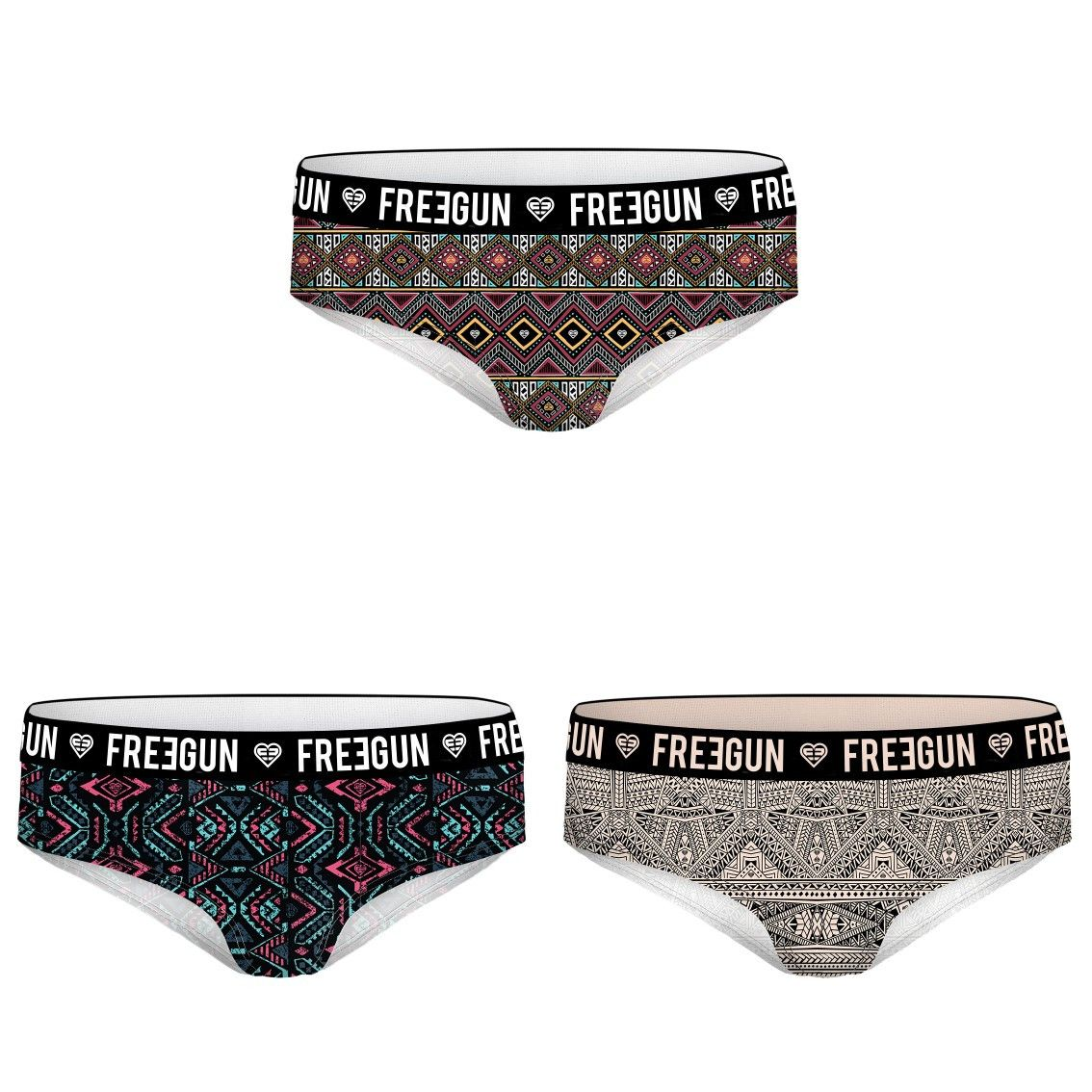 Lot de 3 boxers fille miss freegun motifs (photo)