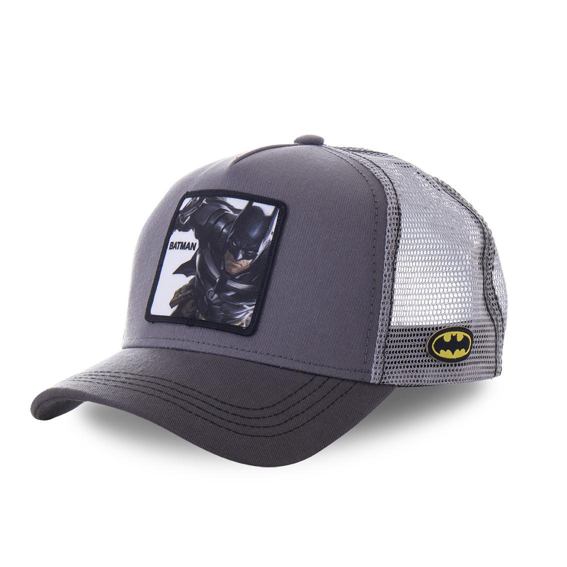Casquette trucker capslab dc comics batman gris