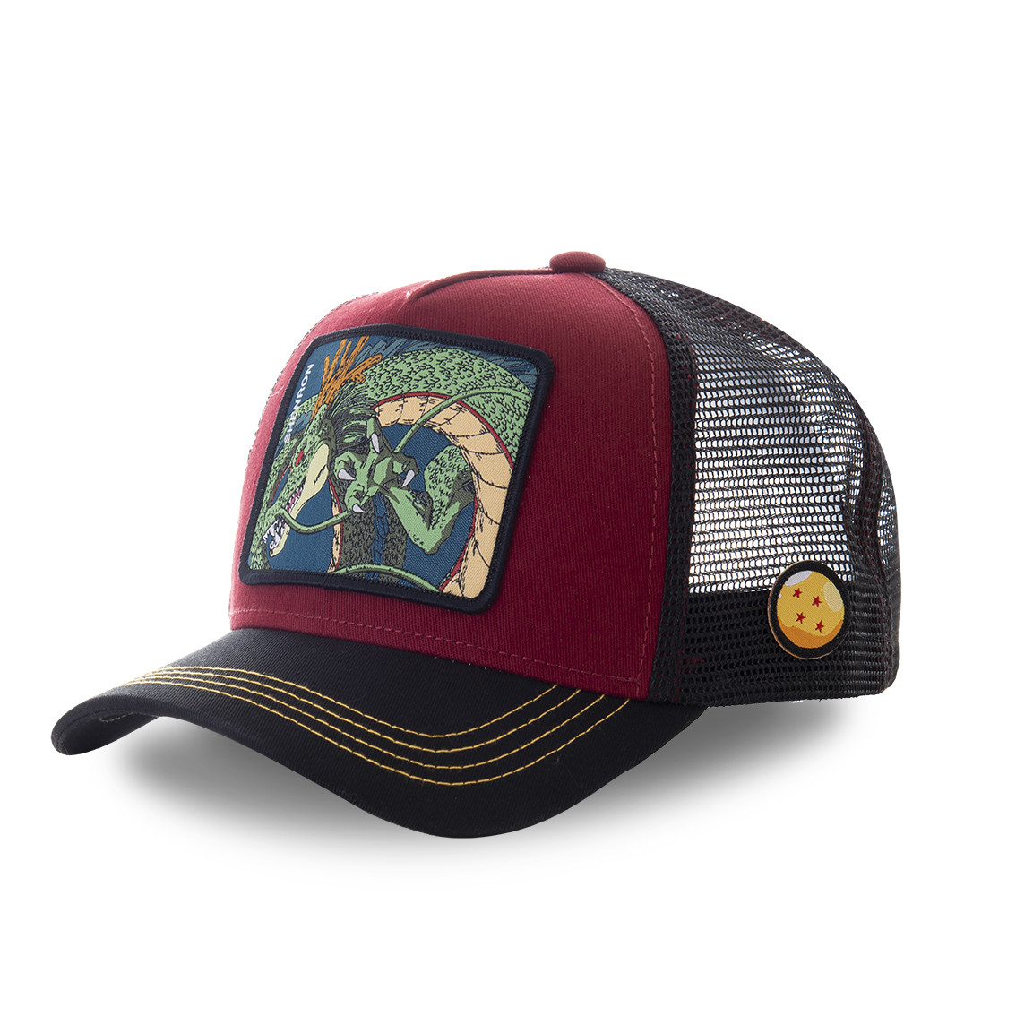 Casquette capslab dragon ball z 3 shenron bordeau (photo)