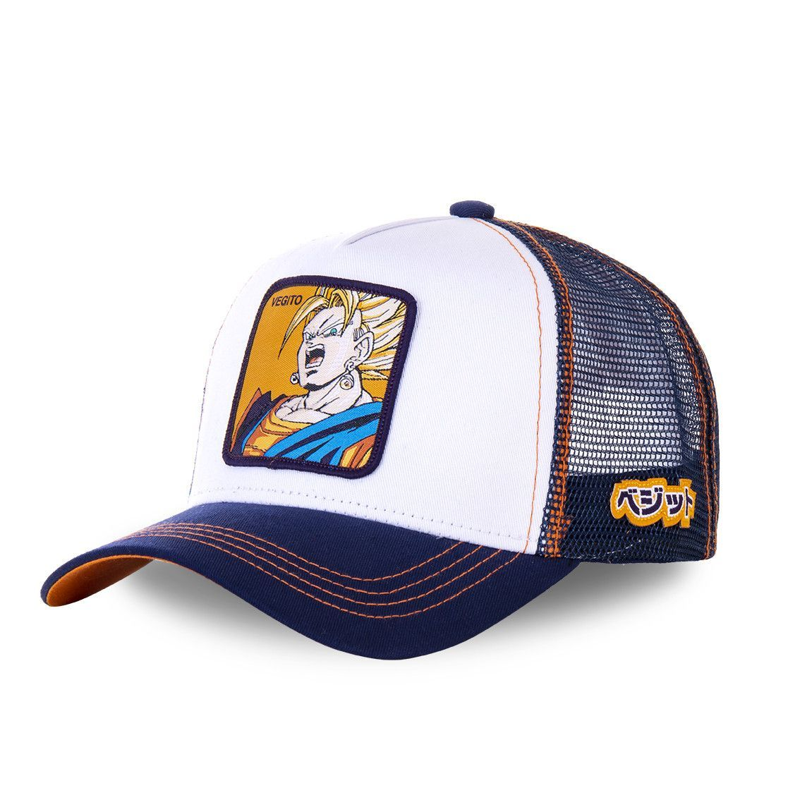 Casquette capslab dragon ball z 3 vegito blanc (photo)