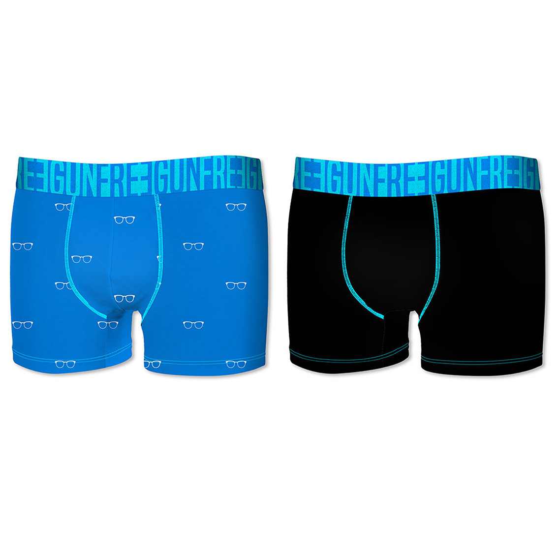 Lot de 2 boxers homme soft touch bleu et noir (photo)