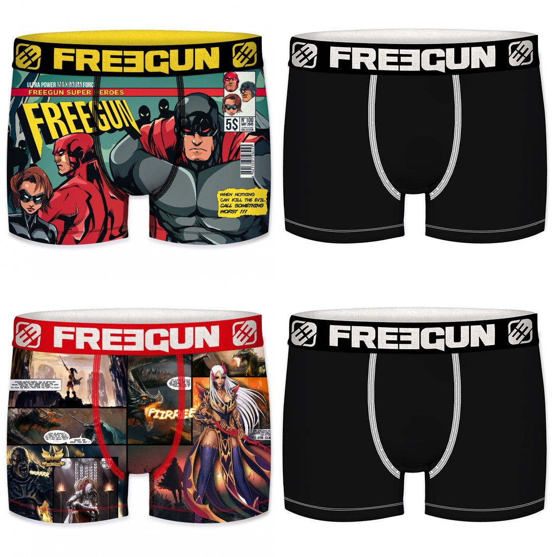 Lot de 4 boxers homme comic (photo)