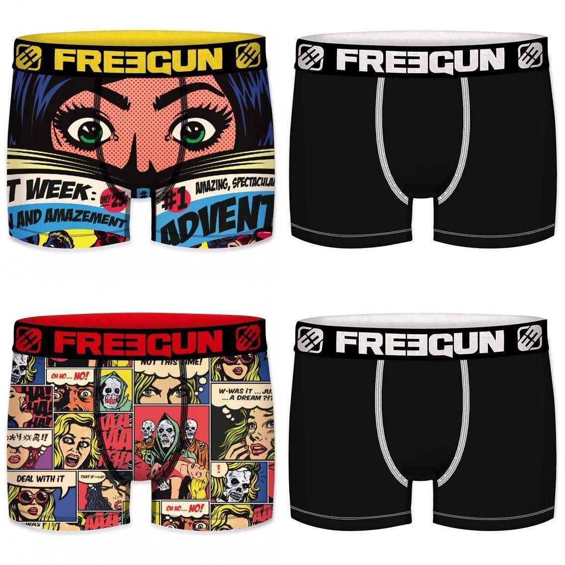 Lot de 4 boxers freegun homme read