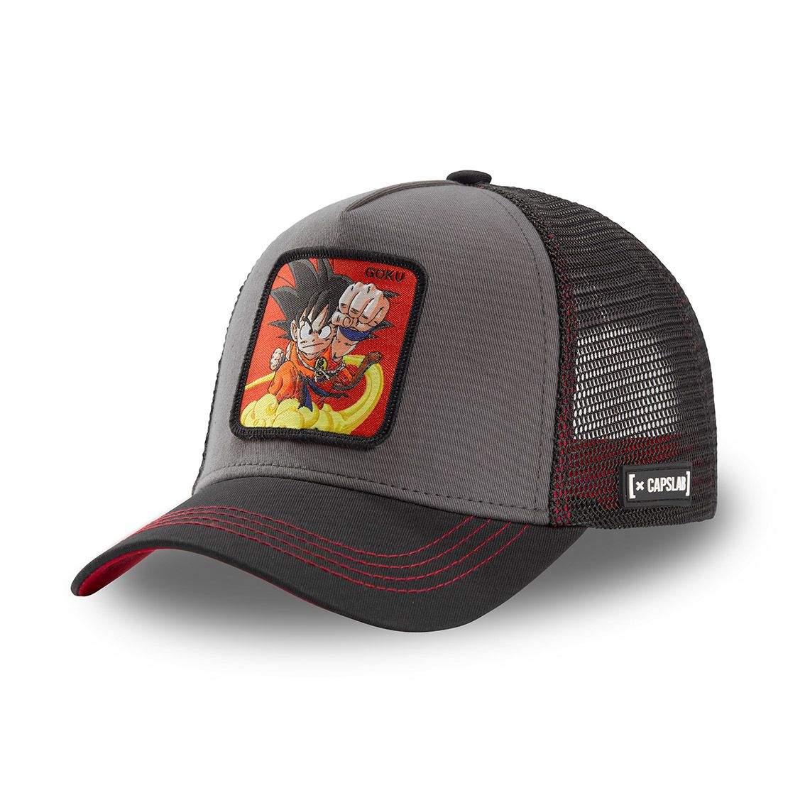 Casquette capslab dragon ball goku noir et rouge (photo)