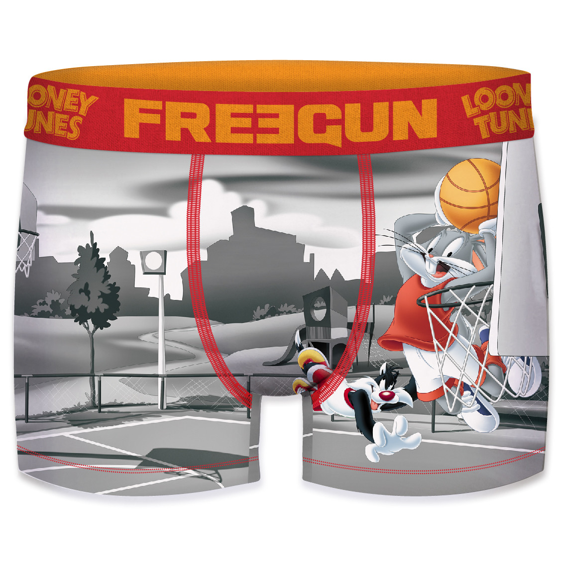 Boxer homme looney tunes basket ball (photo)