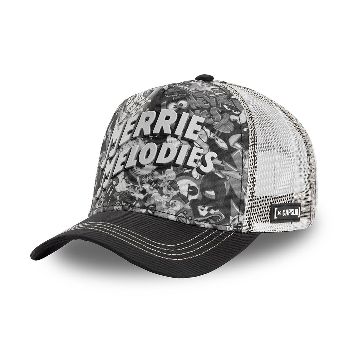 Casquette capslab looney tunes merrie melodies gris (photo)