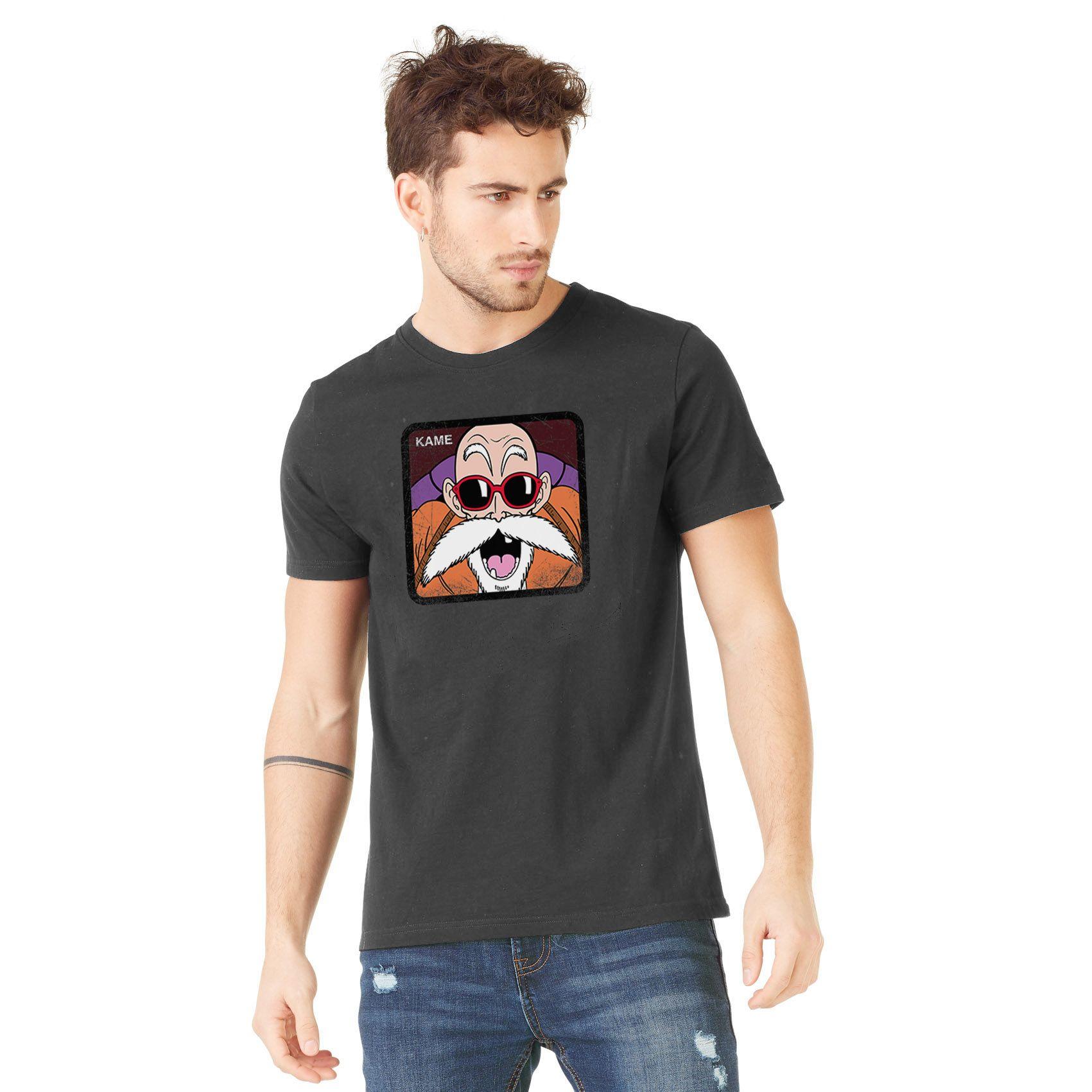 T-shirt homme dragon ball z kame gris