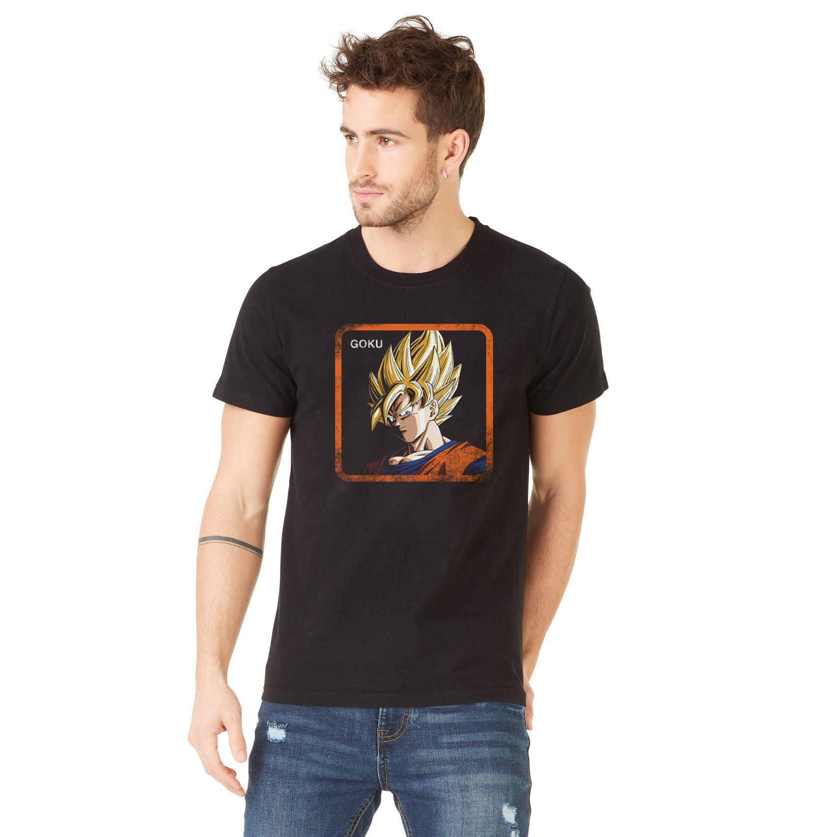 T-shirt homme dragon ball z goku noir