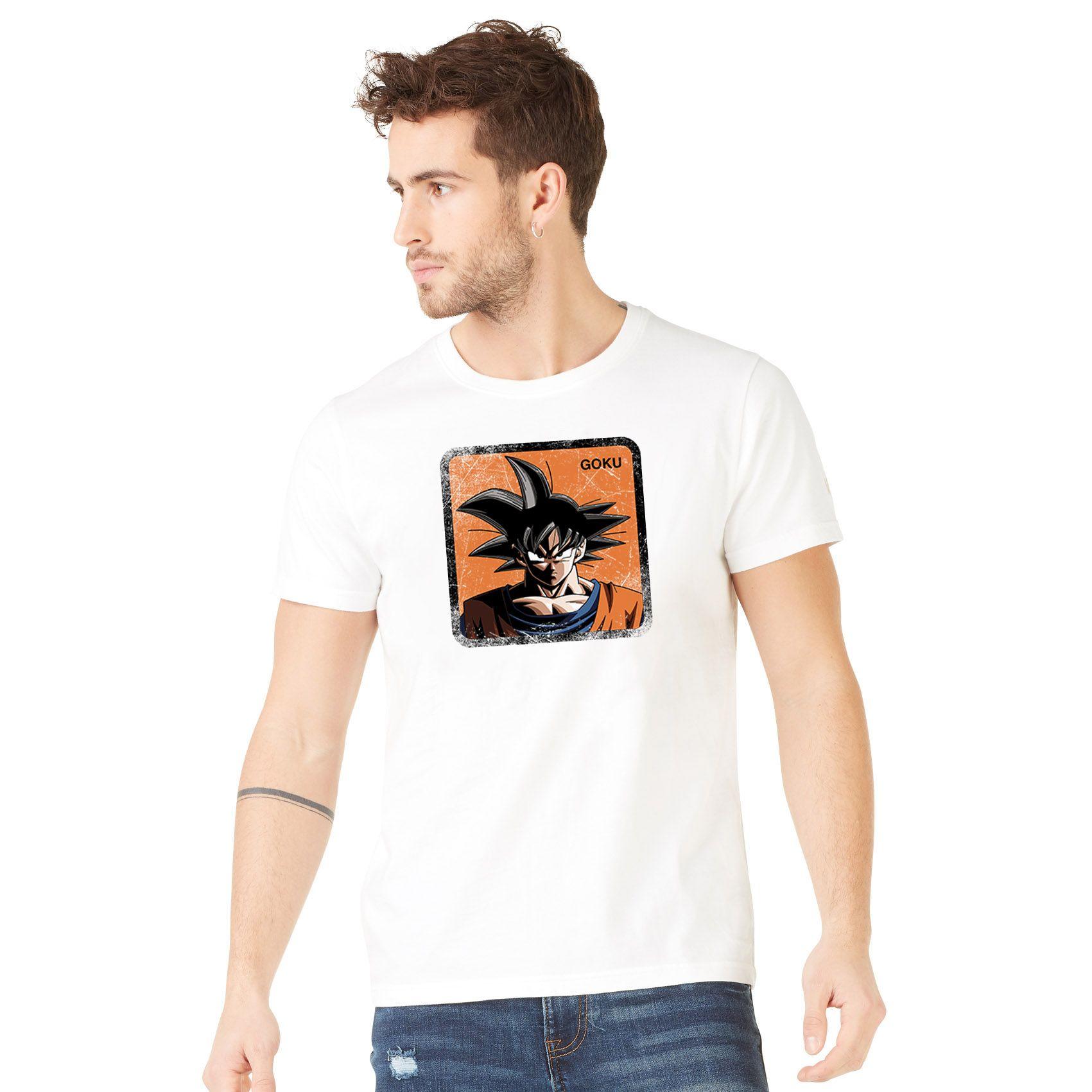 T-shirt homme dragon ball z goku blanc