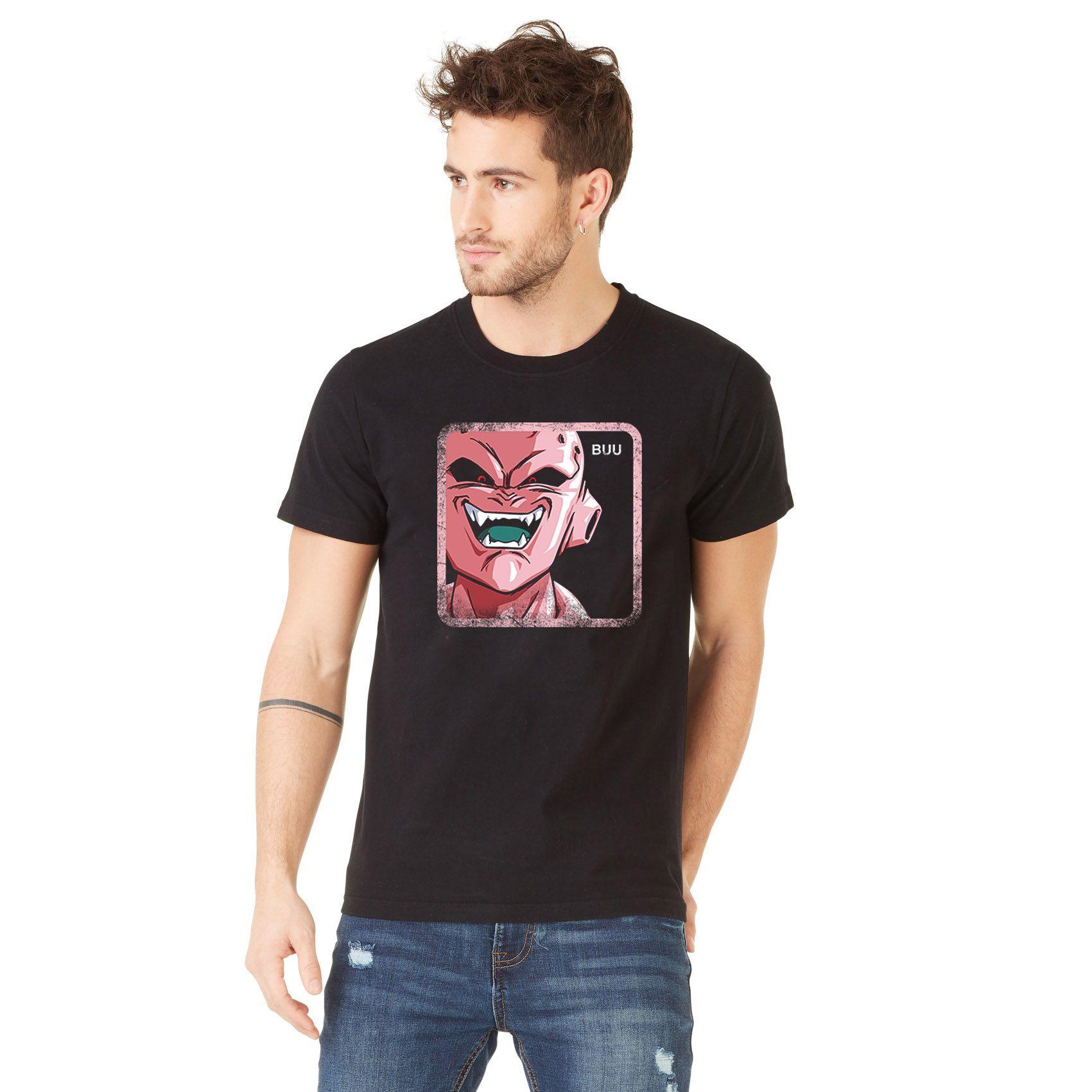 T-shirt coton homme dragon ball z buu noir