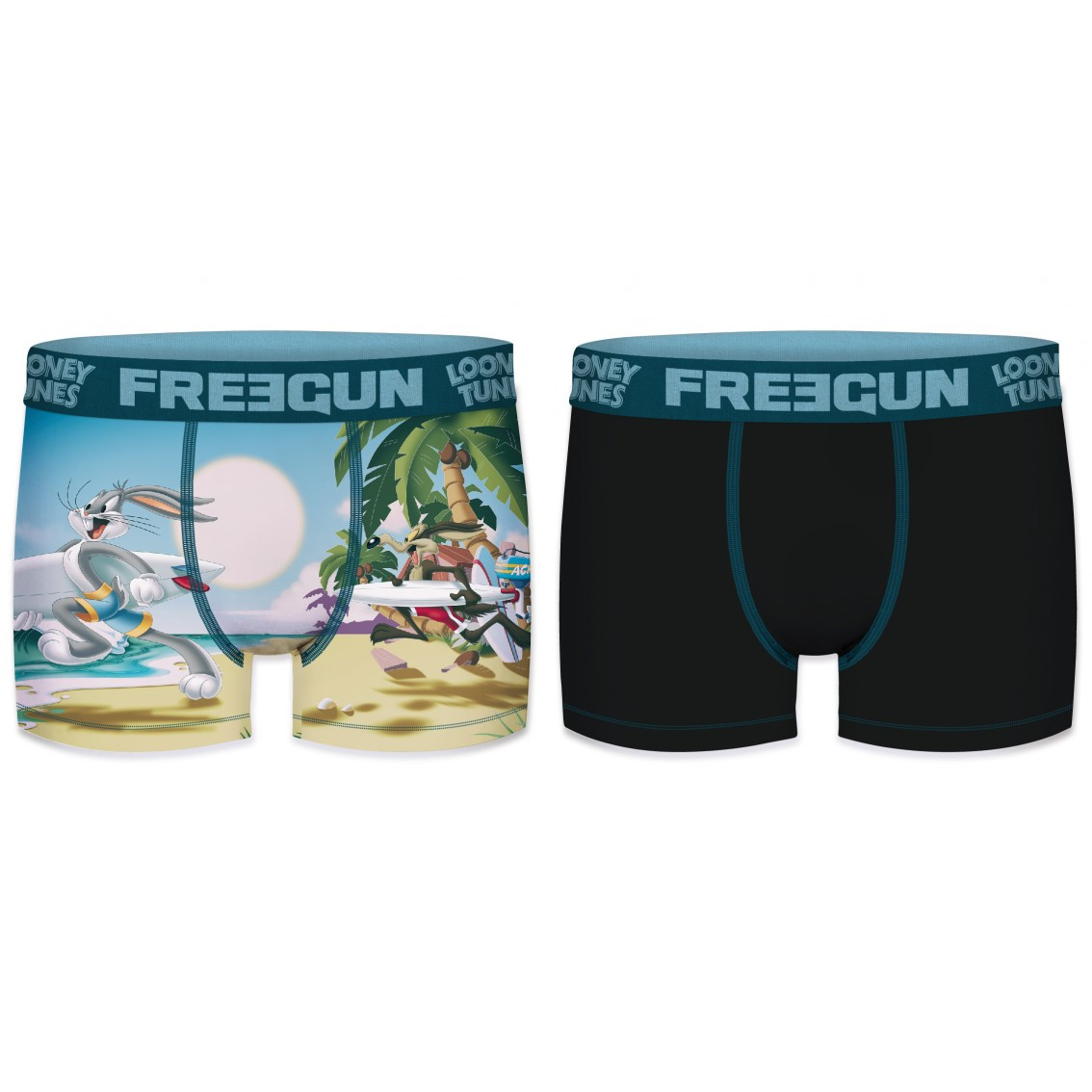Lot de 2 boxers garçon looney tunes surf (photo)
