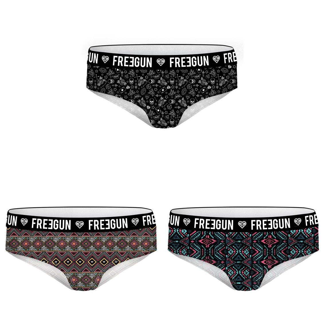 Lot de 3 boxers fille ethnic (photo)