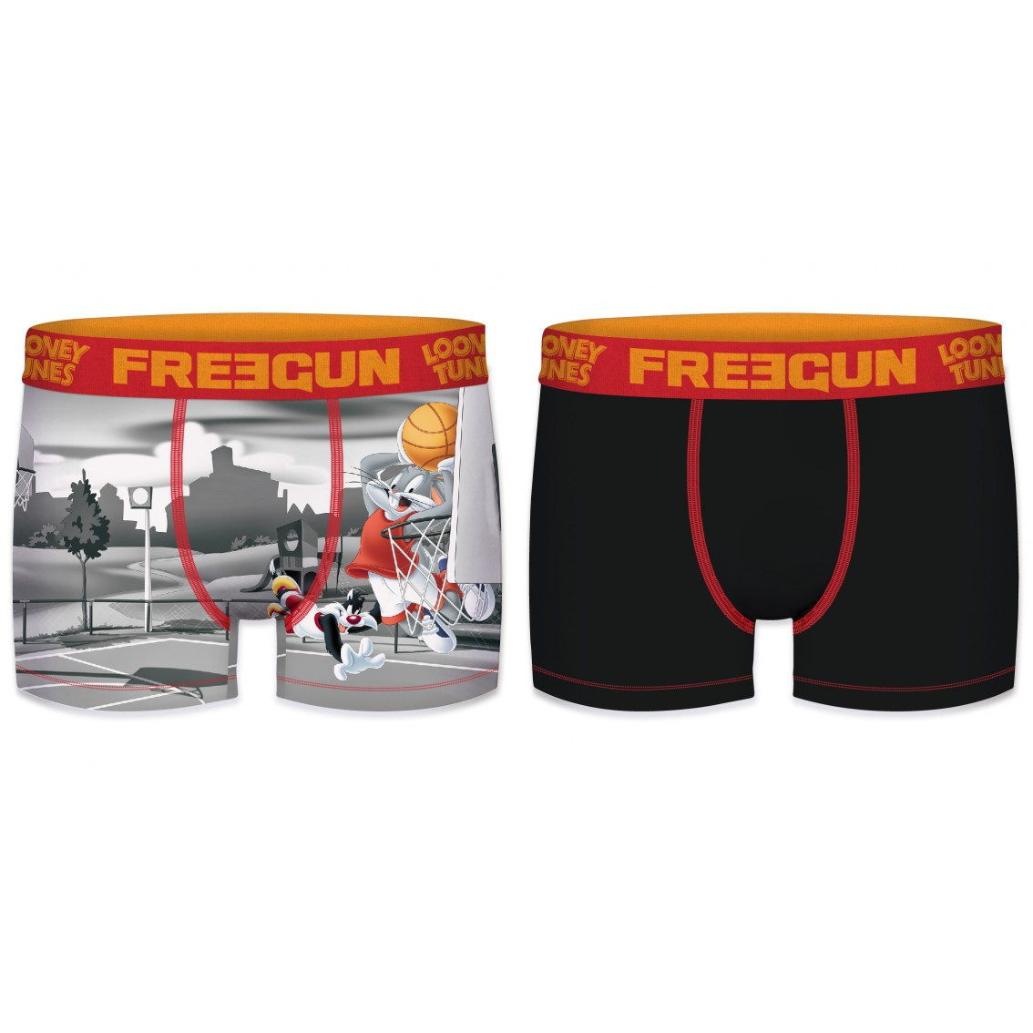 Lot de 2 boxers garçon looney tunes basket ball (photo)