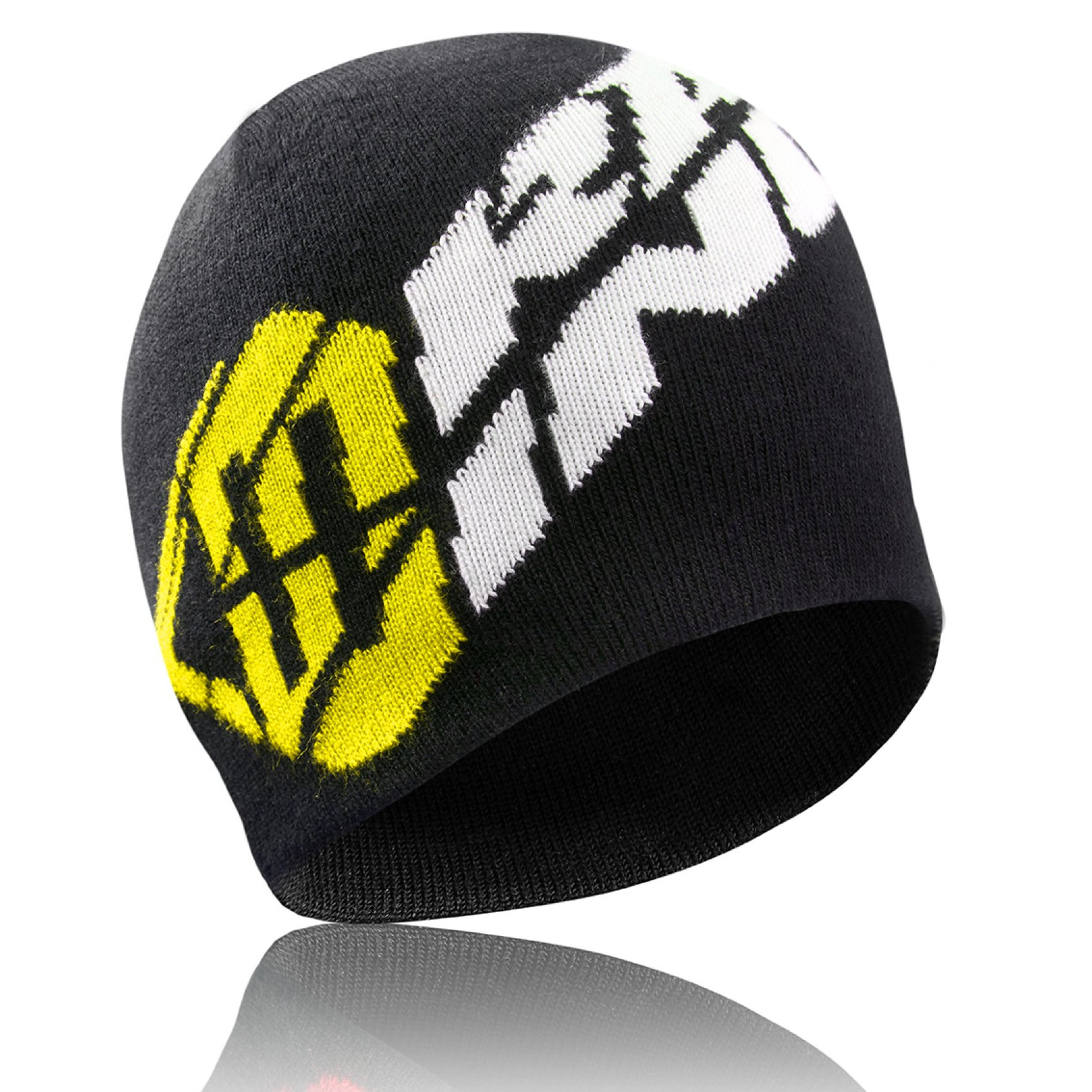 Bonnet homme racing logo jaune (photo)