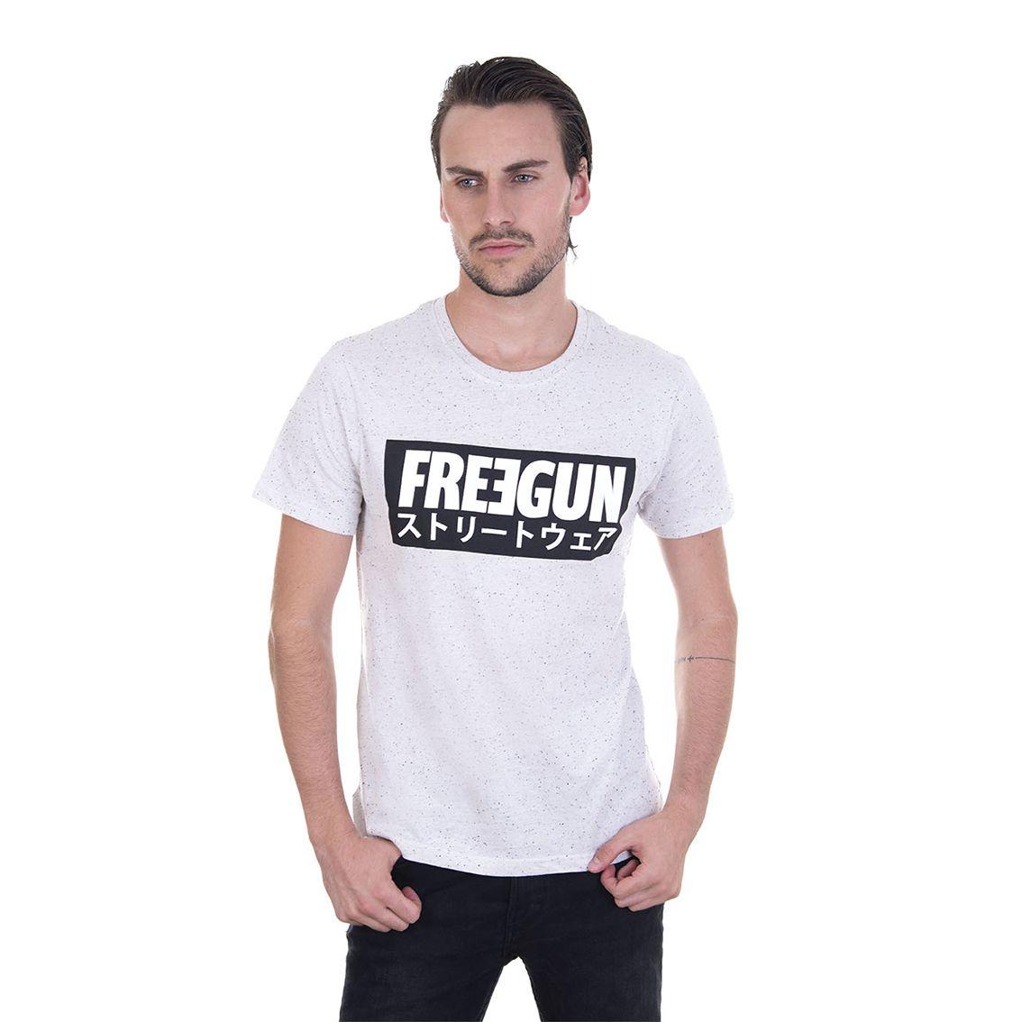 T-shirt freegun homme never stop gris