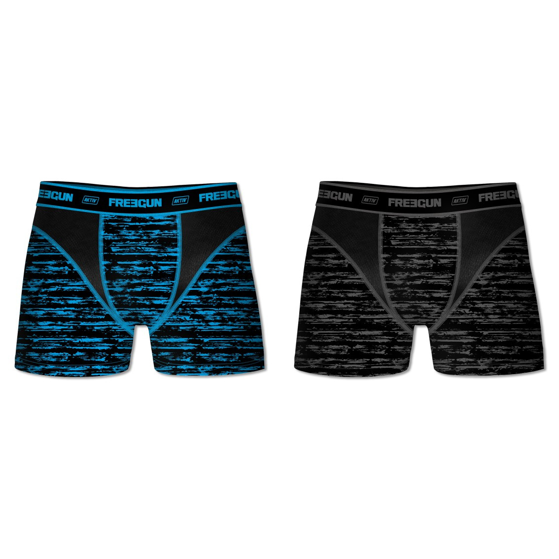 Lot de 2 boxers homme aktiv motifs (photo)