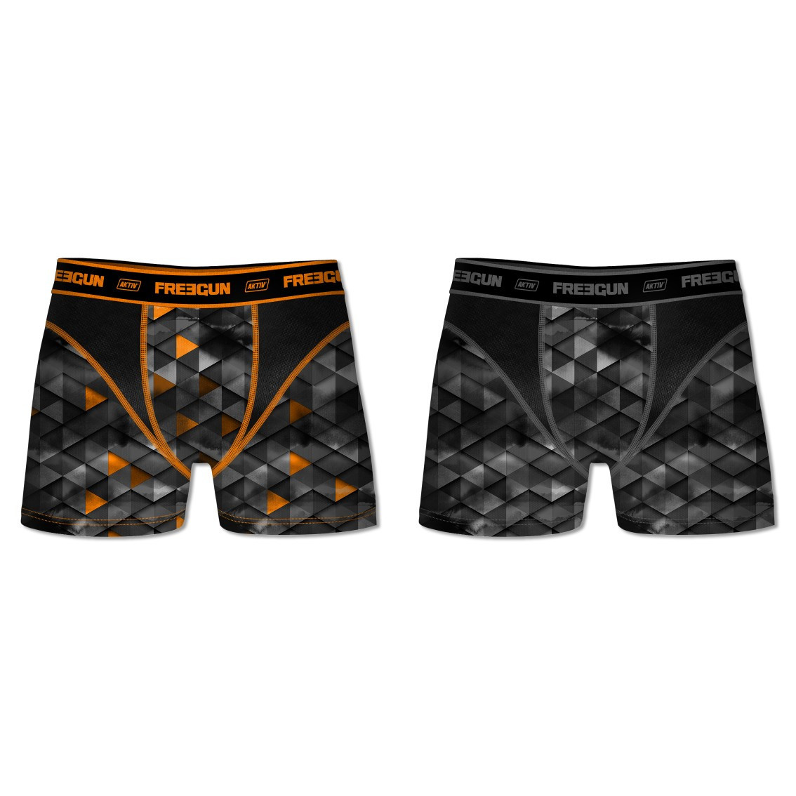Lot de 2 boxers homme aktiv motifs triangle (photo)