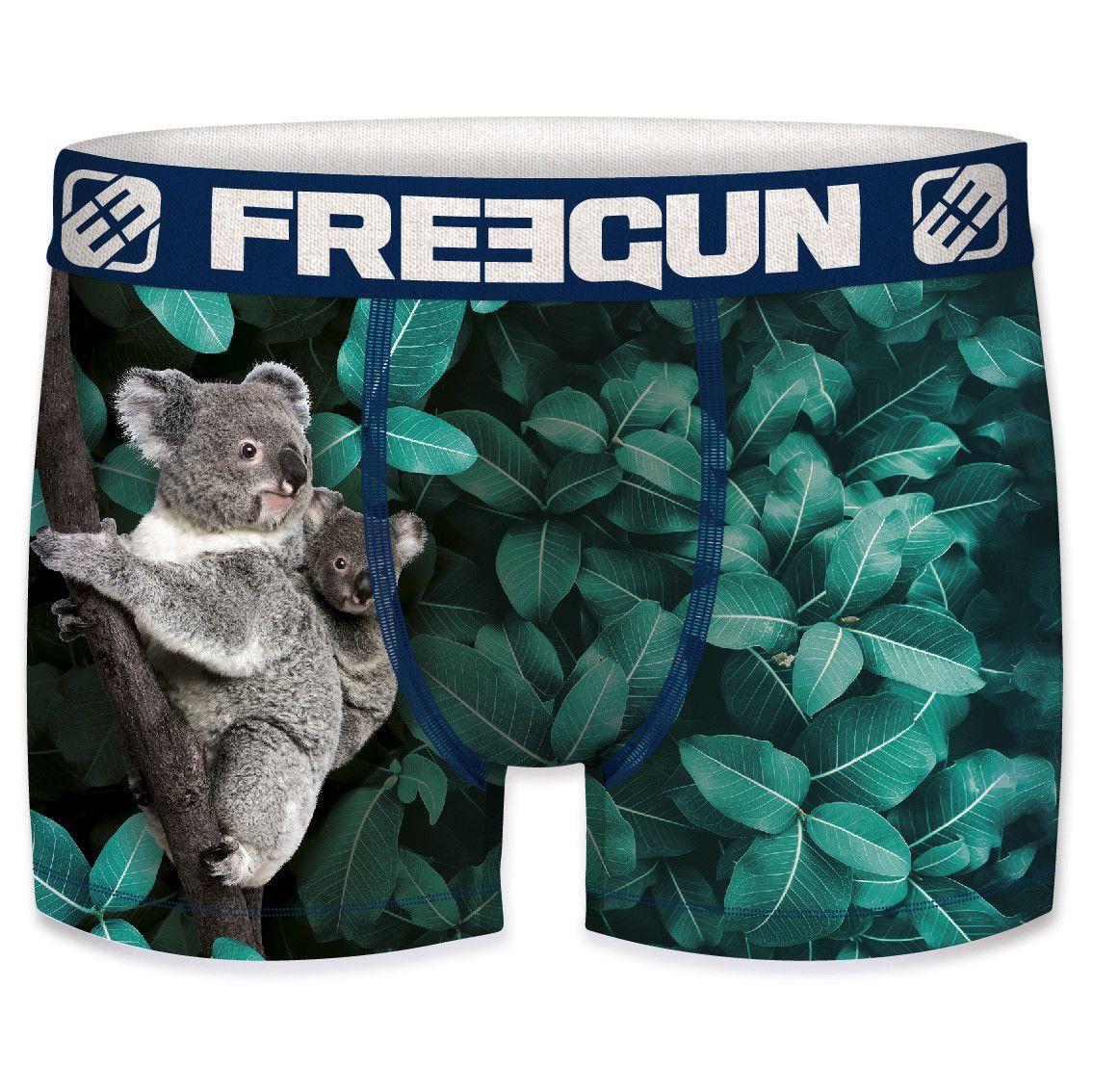 Boxer freegun polyester recyclé homme koala (photo)