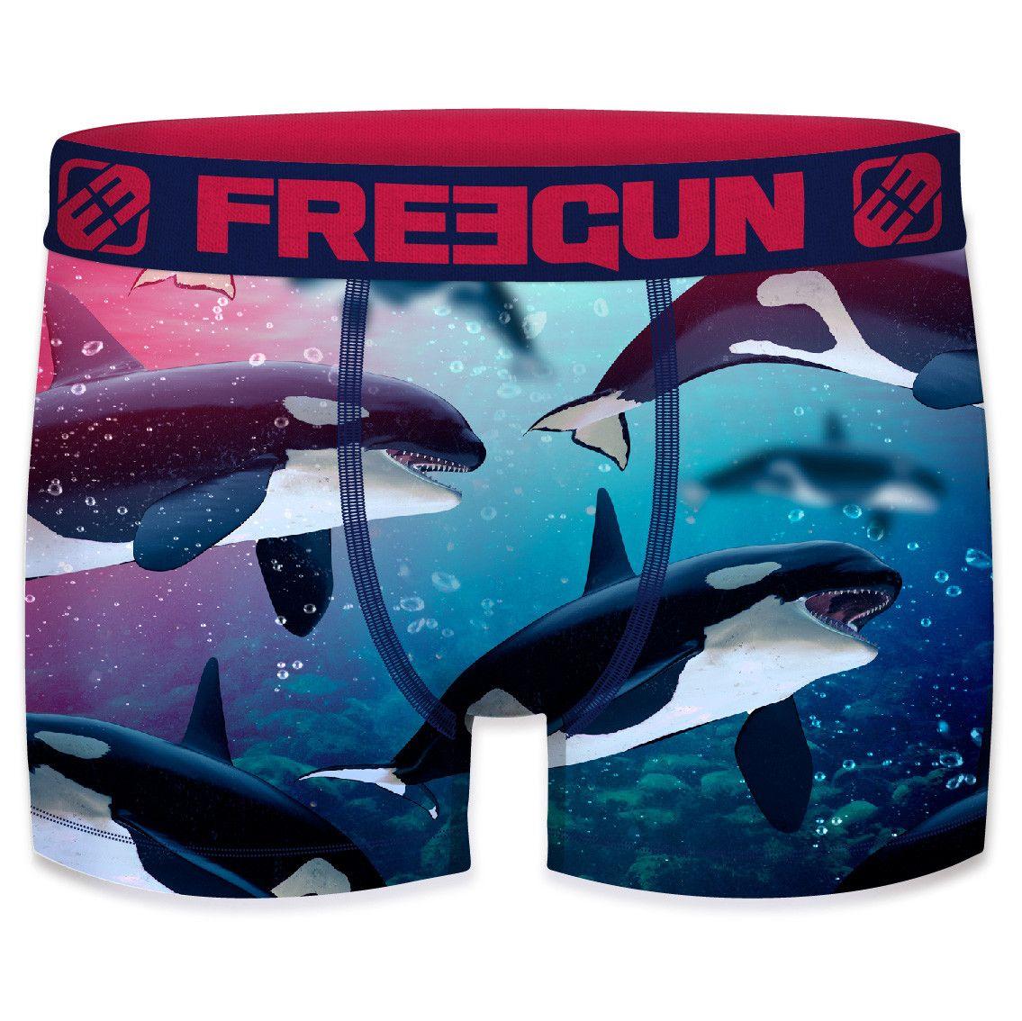 Boxer freegun polyester recyclé homme ork (photo)
