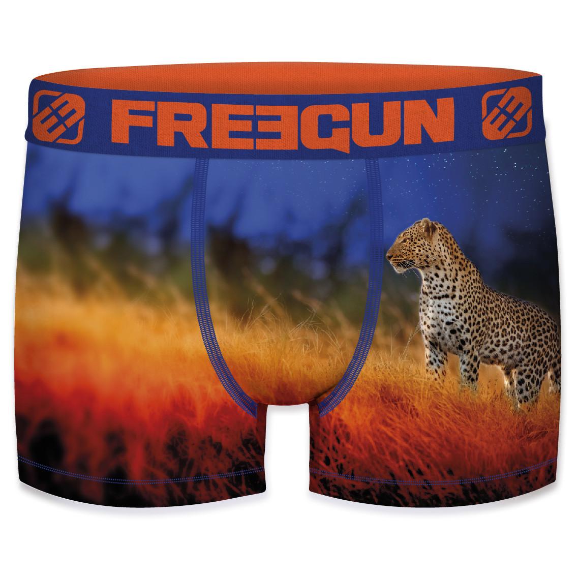 Boxer freegun polyester recyclé homme panther (photo)