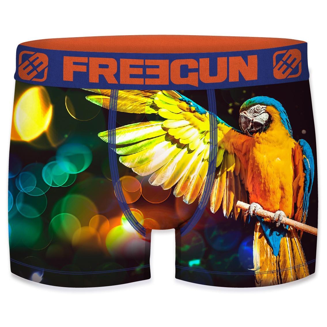 Boxer freegun polyester recyclé homme parrot (photo)